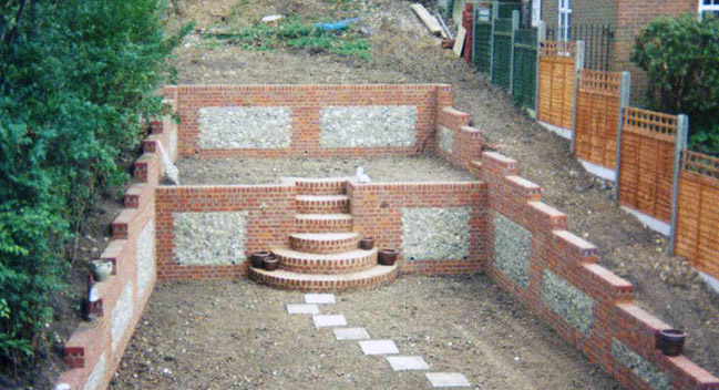 Brickwork and retaining wall construction